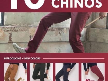 10 COLORED CHINOS ERA-WON